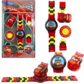Relógio De Pulso Infantil Digital Carros Da Disney