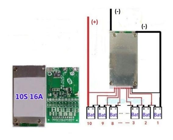 Proteção Bms 10s Para 10x Baterias Lítio Bms