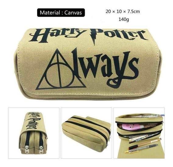 Estojo Escolar Duplo Harry Potter Always - Unissex