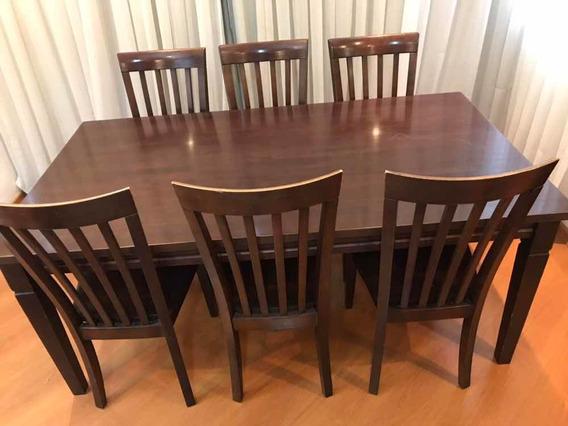 Linda Mesa Tailandesa + 6 Cadeiras 2,00 X 1,00 Em Ipanema Rj
