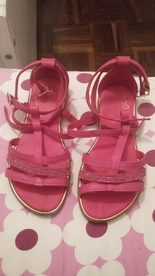 Sandália Pampili Couro Pink
