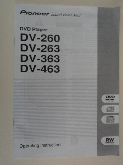 Manual Original Dvd Player Pioneer Dv260/263/363/463
