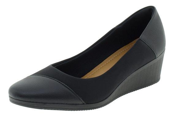Sapato Feminino Anabela Usaflex - Aa3810 Preto