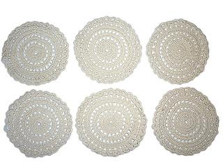 6 Posa Vasos Porta Vasos Bordados De Tela. Hermoso Diseño