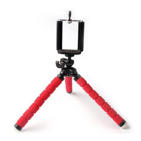 Mini Tripé Flexível Ajustável P Celulares Kit Youtube