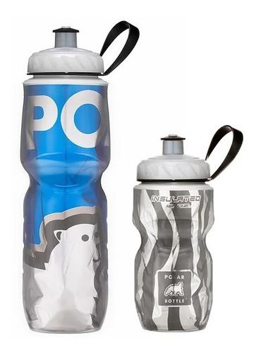 Kit 2 Caramanholas Polar Bottle: Zebra 355ml E Bbblue 710ml