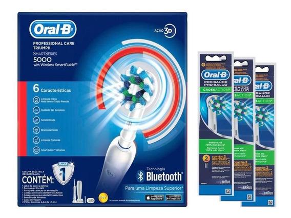 Escova Elétrica Oral-b Precision Care 5000 D34 110v +6 Refis