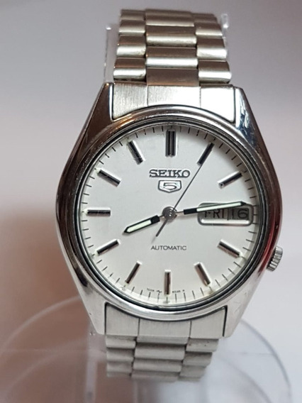 Relogio De Pulso Vintage Seiko Stainless Steel 7009 6000 Or.