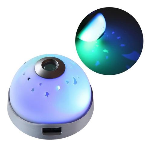 Imagen 1 de 6 de Reloj Despertador Con Proyector De Estrellas Y Hora H9020