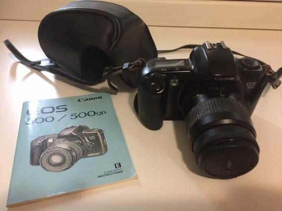 Canon Eos 500 Anal + Capa E Manual Do Proprietário (usada)