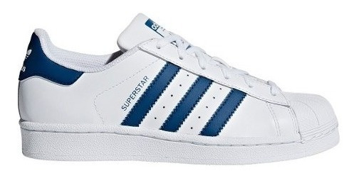 Zapatillas adidas Originals Superstar Bla/azu Unisex Niños