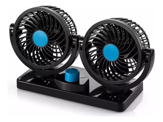 Ventilador Mini Doble 12v 5 Aspas 6w 360° Excelente Potencia