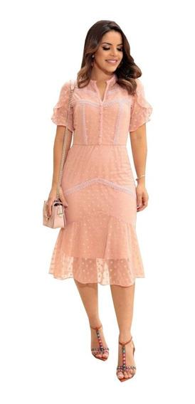 Vestido Tule Em Poa At48 Luciana Pais Lançamento ( 92641 )