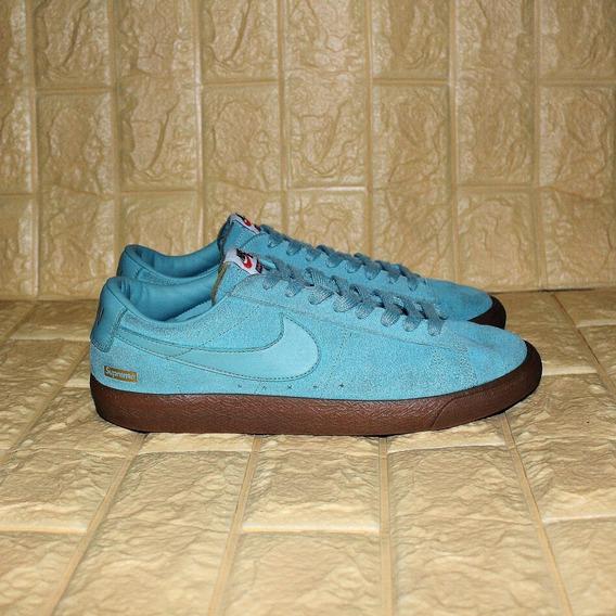 Tênis Nike Supreme Blazer Low Gt Blue Pronta Entreg Original