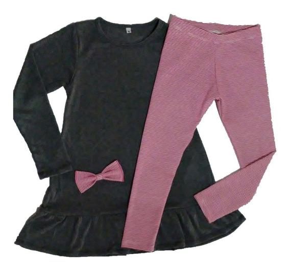 Vestido Casual Corto Para Niñas En Algodon