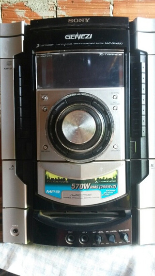 Micro System Sony Hcd- Gnx900 (com Defeito)