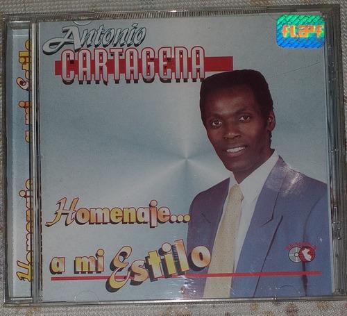Antonio Cartagena Homenaje A Mi Estilo Salsa Cd