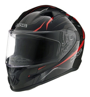 Casco Moto Integral Mac Speed Riot Negro Oficial Devotobikes