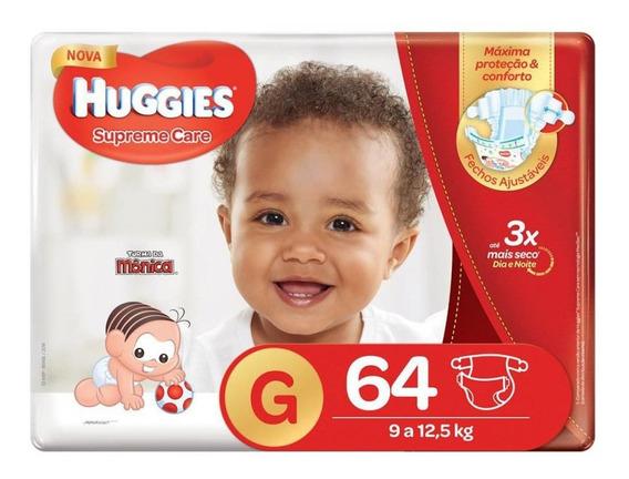 Fralda Huggies G Supreme Care Hiper 64 Unidades