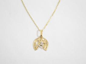 Corrente Cordão De Ouro 18k Cartier Com Pingente Ferradura