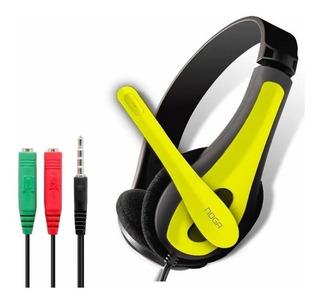 Auricular Vincha Con Microfono 1.5 Mts + Adaptador Ps4 O Cel