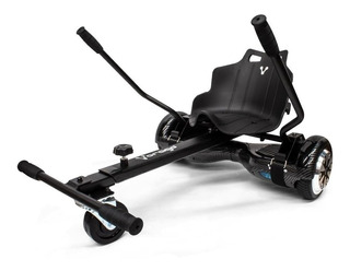 Skate eléctrico hoverboard Vorago HB-300 Negro