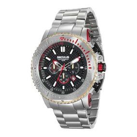 Relógio Seculus Masculino 20480g0svna1 Cronógrafo Prateado