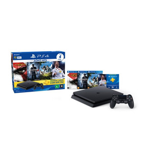 Console Ps4 500gb Hits Bundle 2 + 4 Jogos + Controle Wireles