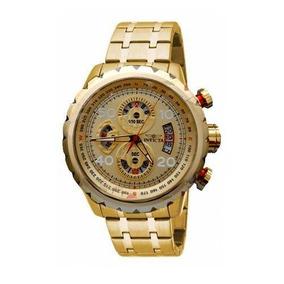 Relógio Invicta Aviator Chronograph Gold 28161 Original