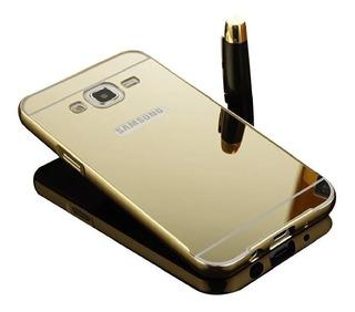 Case Bumper Alumínio Espelhada Luxo Galaxy S5 G900 I9600 Top