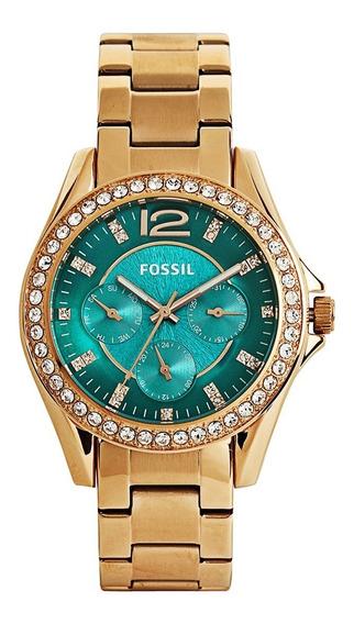 Relogio Fossil Feminino Es3385/4vn - Dourado