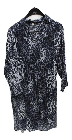 Camisa Mujer Seda Fria Larga (0020)