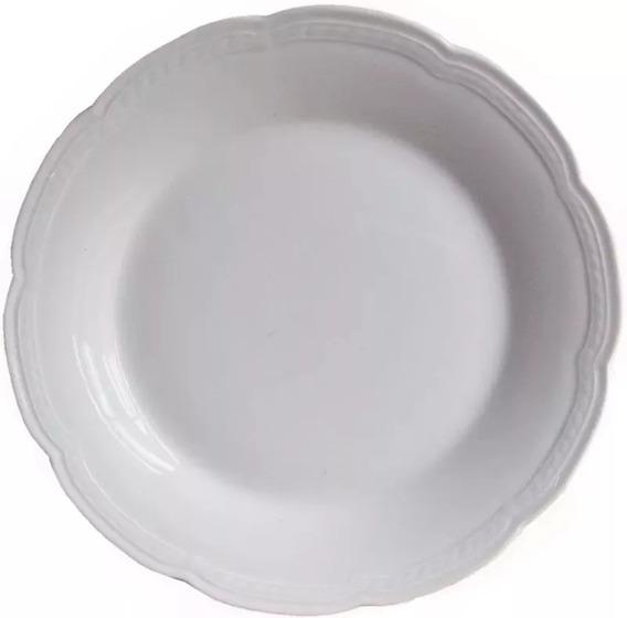 Juego 12 Platos Playos 25cm Porcelana Tsuji 1800 Cuotas