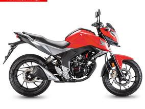 Moto Honda Cb160f 160cc Año 2019 Rojo Negro