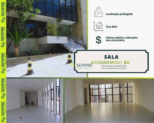 Imagem 1 de 21 de Sala Para Alugar, 80 M² E 01 Vaga - Luxemburgo - Belo Horizonte/mg - Sa0014