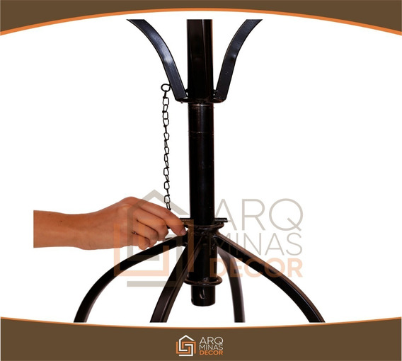 Jogo De Cozinha Com 4 Cadeira Artesanal Madeira E Ferro 12x