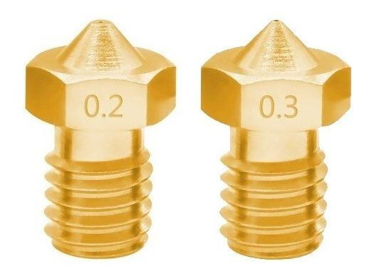 Kit 04 Bicos Nozzle 0.2mm 0.3mm Impressora 3d