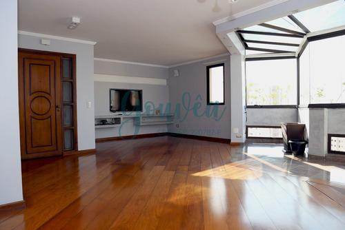 Imagem 1 de 24 de Apartamento De Alto Padrão Com 146m² Com 4 Dormitórios Sendo 1 Suíte Master, Living Ampliado E 2 Vagas Na Vila Moinho Velho - Ap0021