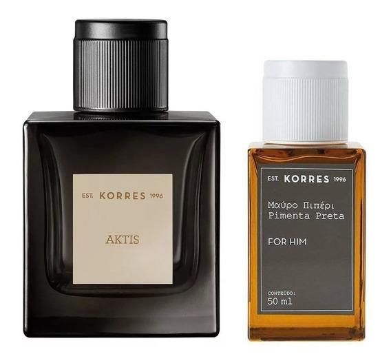 Combo Perfumes Masculinos Korres: Aktis + Pimenta Preta
