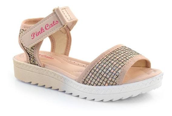 Sandália Flatform Infantil Pink Cats