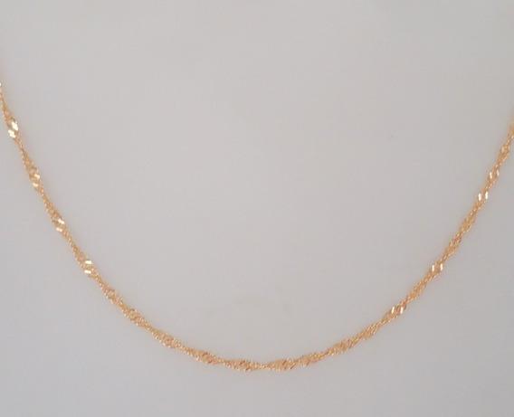 Colar Feminino Luxo De 45 Cm Brilho Especial De Ouro 18k 750
