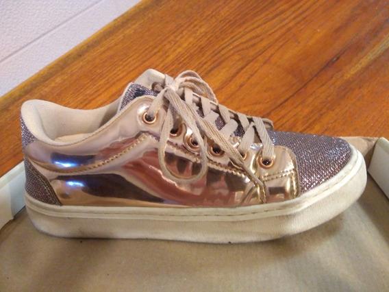Zapatillas Lady Stork Metalizadas, Talle 37