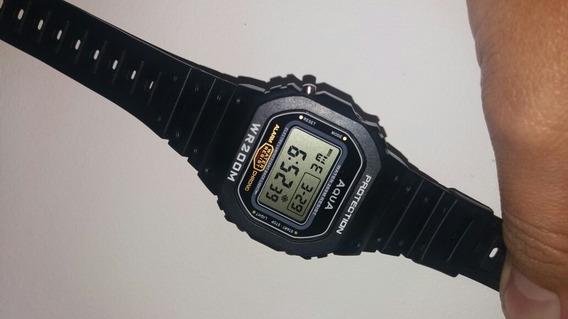 Relógio Protection Original Aqua Wr200m A Prova Agua Retro