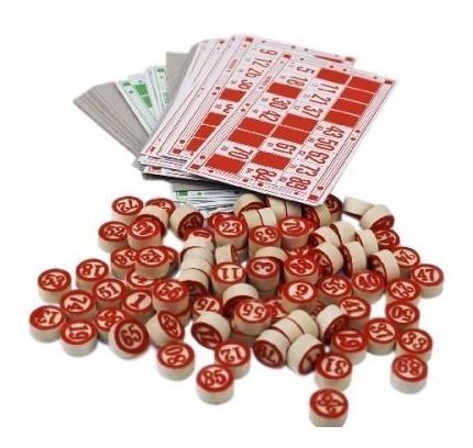 Jogo Loto Bingo 90 Pedras Em Madeira 48 Cartelas Promoção