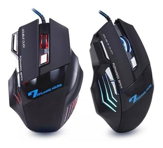Mouse Gamer Óptico 2400dpi Pc Profissional Usb Alta Precisão