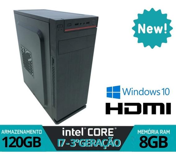 Computador Core I7 8gb 120gb Win10 12x Sem Juros
