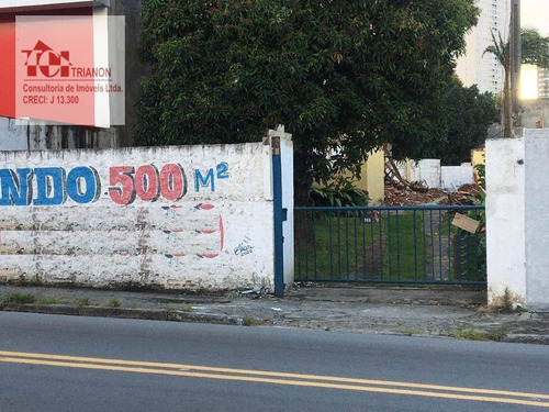 Terreno À Venda, 500 M² Por R$ 1.620.000,00 - Vila Alzira - Santo André/sp - Te0414