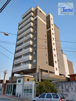 Apartamento Em Praia Grande, 01 Dormitório, Sala Com Varanda Gourmet, No Bairro Mirim, Ap2095 - Ap2095