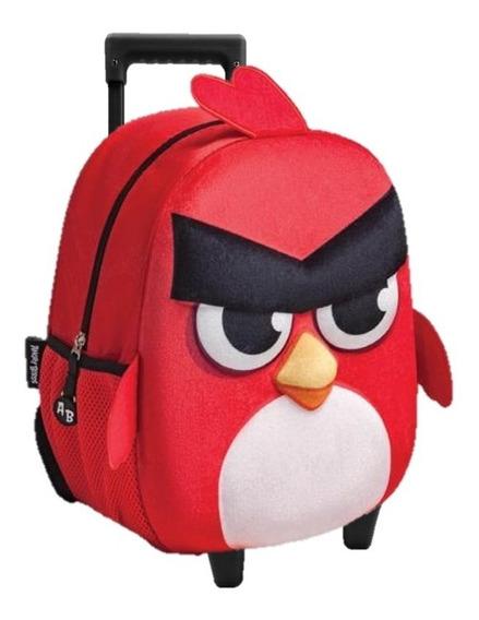 Mochila Angry Birds Kinder Con Carro Amp293
