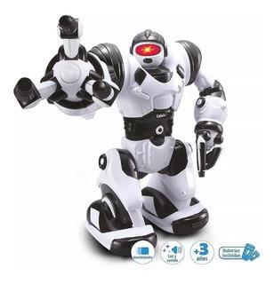 Robot Calvin-bot Con Luz , Sonido Y Movimiento Duende Azul